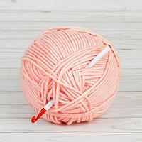 Крючок для вязания, d 7 мм, 14 см, цвет белый/красный