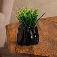 Кашпо 'Оригами', чёрное, керамика, 0.25 л