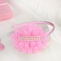 Ободок для волос 'Выпускница' 0,5 см, бусины, розовый