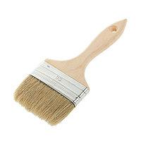 Кисть плоская LOM, 90х14 мм, ручка дерево, натуральная щетина (комплект из 10 шт.)