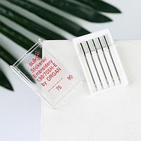 Иглы для бытовых швейных машин, для шёлка, 75-90, 5 шт