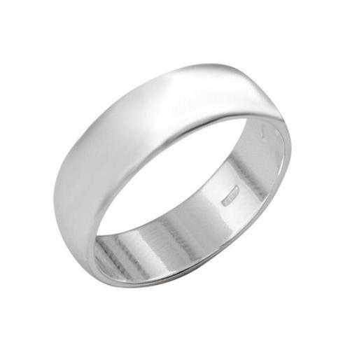 Кольцо 'Обручальное', посеребрение , 17 размер