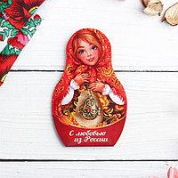 Подвеска-матрёшка на открытке 'С любовью из России. Узоры'