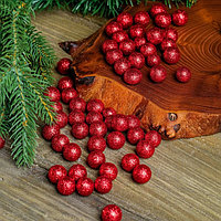Фигурка для поделок и декора 'Шар', набор 55 шт., размер 1 шт. 1 см, цвет красный