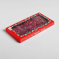 Коробка для шоколада 'Письмо от Дедушки Мороза', с окном, 17,3 x 8,8 x 1,5 см (комплект из 5 шт.)