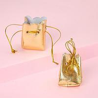 Мешочек подарочный универсальный 'Лакшери', 4*4см, цвет золото (комплект из 50 шт.)