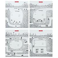 Тетрадь 24 листа в клетку 'Муравьишки', обложка мелованный картон, блок офсет, МИКС (комплект из 10 шт.)