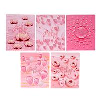 Тетрадь 48 листов Pink, обложка мелованный картон, матовая ламинация, выборочный УФ-лак, блёстки, блок офсет,