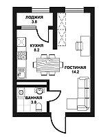 1 комнатная квартира в ЖК Табысты 30 м²