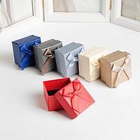 Коробочка подарочная под серьги/кольцо 'Животный принт', 5*5см, цвет МИКС (комплект из 6 шт.)