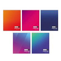 Тетрадь 48 листов в клетку 'Цветные линии', обложка мелованный картон, МИКС (комплект из 10 шт.)