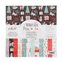 Набор бумаги для скрапбукинга (8 листов) 'Новый кот' 20х20 см, 190гр/м2