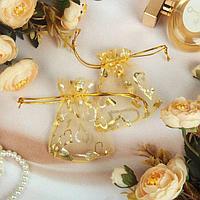 Мешочек подарочный 'Сердечки' 7*9, цвет золотой (комплект из 100 шт.)