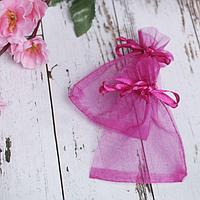 Мешочек подарочный 7x9, цвет малиновый (комплект из 100 шт.)
