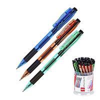 Ручка шариковая автомат Cello 'Joy Neon tinted' узел 0.7мм, чернила синие, грип, микс 3В 352 47576 (комплект