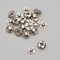 Кнопки пришивные, d 10 мм, 10 шт, цвет никель