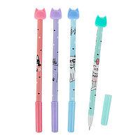 Ручка гелевая 'Стираемая' Mazari MIAO, узел 0.5 мм, чернила синие, микс (комплект из 12 шт.)
