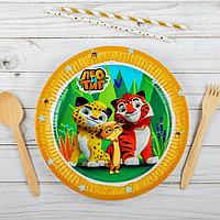 Тарелка бумажная 'Лео и Тиг', 23 см, набор 6 шт.