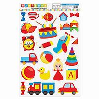 Наклейки для дома 'Изучаем игрушки', 24 x 37 см (комплект из 5 шт.)