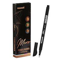 Ручка капилярная Mazari Mero, 0.4 мм, чёрная (комплект из 12 шт.)
