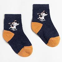 Носки детские, цвет тёмно-синий, размер 14-16
