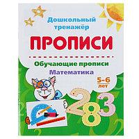 Дошкольный тренажёр. Обучающие прописи 'Математика' для детей 5-6 лет