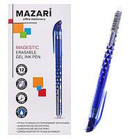 Ручка гелевая 'Стираемая' Mazari MAGESTIC, игольчатый пишущий узел 0.5 мм, стираемые синие чернила, стержень