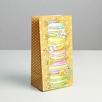 Пакет подарочный без ручек 'Вкусняшки', 10 x 19.3 x 7 см (комплект из 10 шт.)