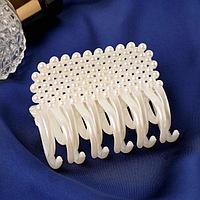 Краб для волос 'Нея' осьминог, 6,5х4 см, белый (комплект из 12 шт.)