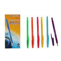 Ручка шариковая антискользящий корпус Beifa АА 110В 'Яркое цветное ассорти', металлический наконечник,