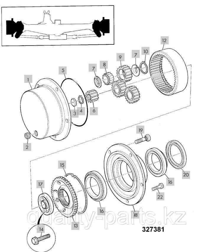 Бортовой редуктор на экскаватор-погрузчик JCB 3CX и 4CX