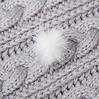 Помпон из натурального меха норки, размер 1 шт 2,5 см, цвет белый