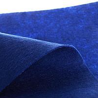 Лоскут для рукоделия, 50 х 50 см, фетр синий, 310 гр/м