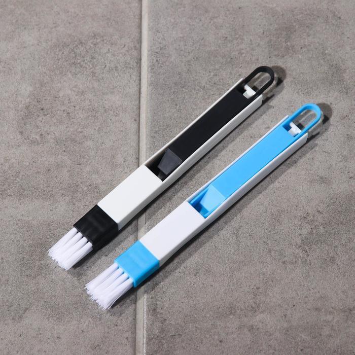 Щётка-кисть для очистки окон и узких проёмов, с совочком-скребком, цвет МИКС - фото 6
