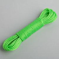 Верёвка бельевая Доляна, d3 мм, длина 10 м, цвет МИКС (комплект из 12 шт.)