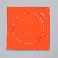 Светоотражающая наклейка 'Круг', d 10 см, цвет оранжевый