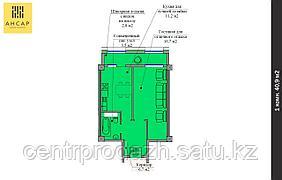 1 комнатная квартира в ЖК Ансар 40.9 м²