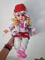 Кукла мягкая музыкальная в свитере.Рост 52 см