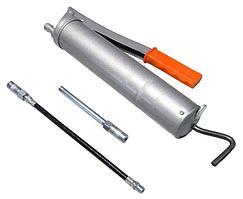 ROCKFORCE Шприц ручной для нагнетания густой смазки 400мл, в комплекте с жестким и гибким наконечниками
