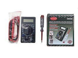 ROCKFORCE Набор диагностический для электрика (цифровой мультиметр, индикаторная отвертка) ROCKFORCE RF-88463