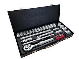 Everforce Набор инструментов с телескопической трещоткой 26 предметов 1/2'' (6гр.)(10-32мм), в металлическом