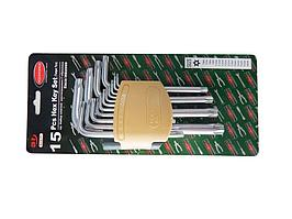 ROCKFORCE Набор ключей TORX Г-образных длинных с отверстием15