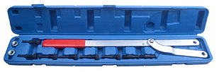 ROCKFORCE Набор инструментов для фиксации шкивов (рабочий диапазон 40-220мм, диаметры штифтов: 6, 8, 10, 16мм)