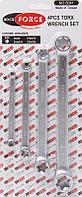 ROCKFORCE Набор ключей накидных Е-профиль 4 предмета (Е6хЕ8, Е10ХЕ12, Е14ХЕ18,Е20хЕ24) ROCKFORCE RF-5041 11556