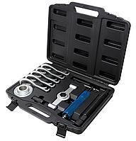 Forsage Съемник ступицы сборный с гидравлическим и механическим винтами 11 предметов,(5 сменных лап), в кейсе
