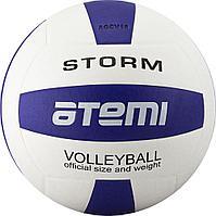 Мяч волейбольный Atemi, STORM, синтетическая кожа PU , син.-бел