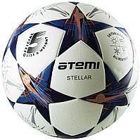 Мяч футбольный Atemi,STELLAR PU, бел/син/оранж., р.5, Thermo mould (б/швов)
