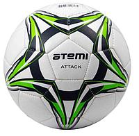 Мяч футбольный Atemi ATTACT PVC foam, бел/т.син/салат., р.4, м/ш (0,4-0,6 bar)