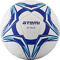 Мяч футбольный Atemi ATTACT PU Thermo, бел/син/гол., р.5, Thermo mould (б/швов)