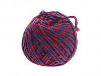Шпагат хлопчатобумажный пёстрый (сине-красный) клубочек 50 м
